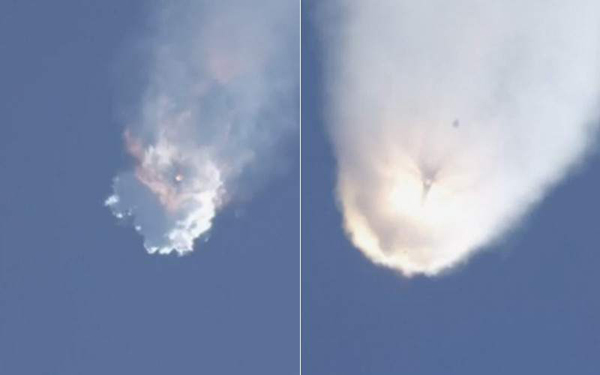 Explota el cohete Falcon 9 de SpaceX tras su despegue