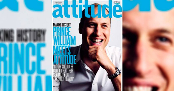 "Príncipe William hace historia al ser portada de revista gay ""Attitude"""