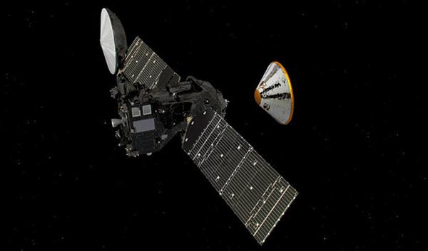 Módulo de misión ExoMars entra en atmósfera de Marte