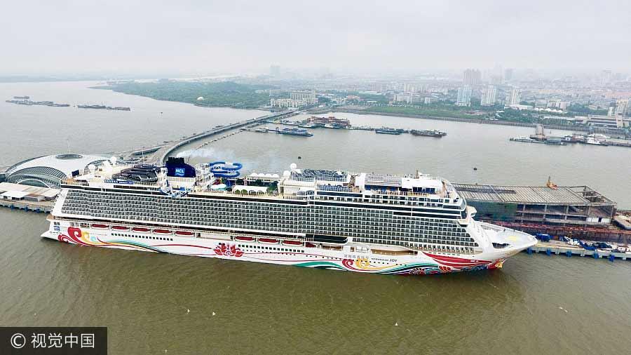 Norwegian Joy, el crucero más grande de la región de Asia-Pacífico, inicia su viaje inaugural desde Shanghai, el 10 de junio de 2017, con más de mil pasajeros a bordo para un viaje de cuatro días