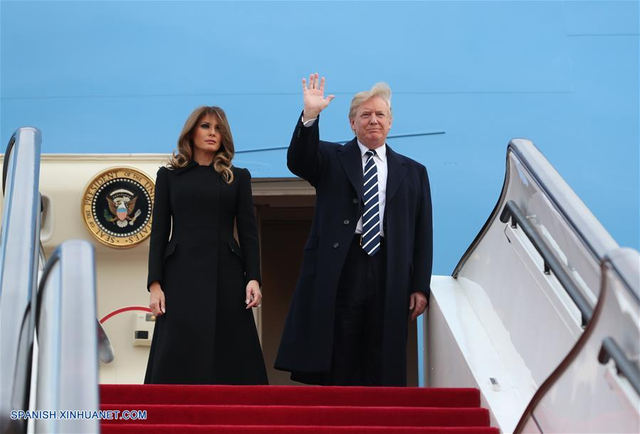 Presidente estadounidense Donald Trump empieza visita de Estado a China