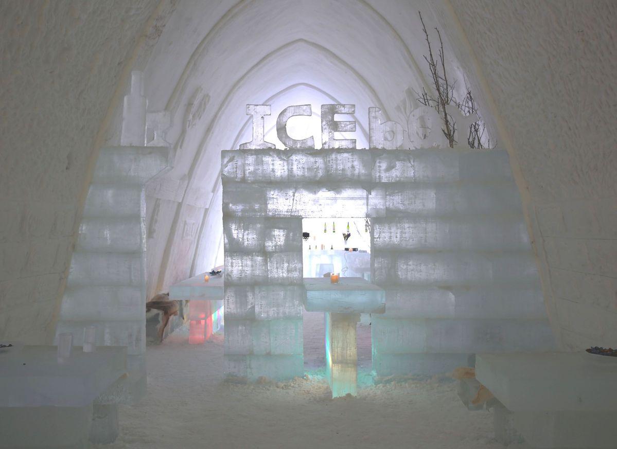 Hotel de hielo y nieve en el municipio de la etnia Olguya Ewenki, Región Autónoma de Mongolia Interior.