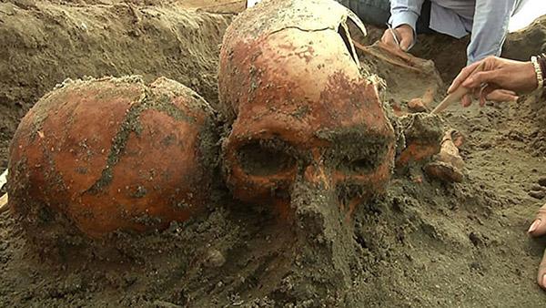 Restos humanos encontrados en la playa de El Conchalito, en La Paz, Baja California Sur, México. www.ipn.mx (Instituto Politécnico Nacional)