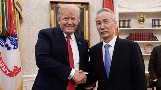 Trump se reúne con el vicepremier chino Liu He en Washington