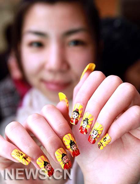 Celebran Festival Internacional de Decoración de Uñas en China