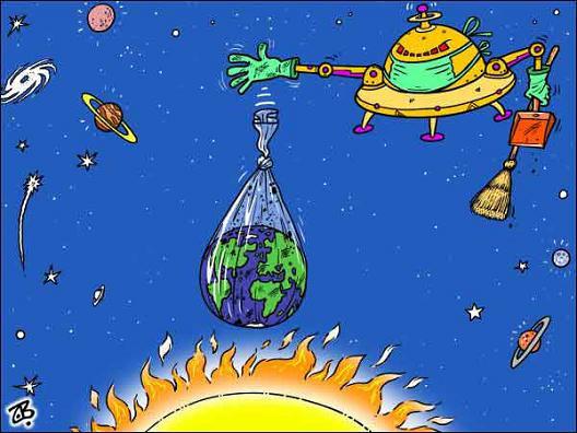 Caricaturas sobre cambio climático (