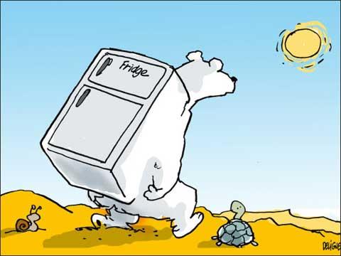 Caricaturas sobre cambio climático