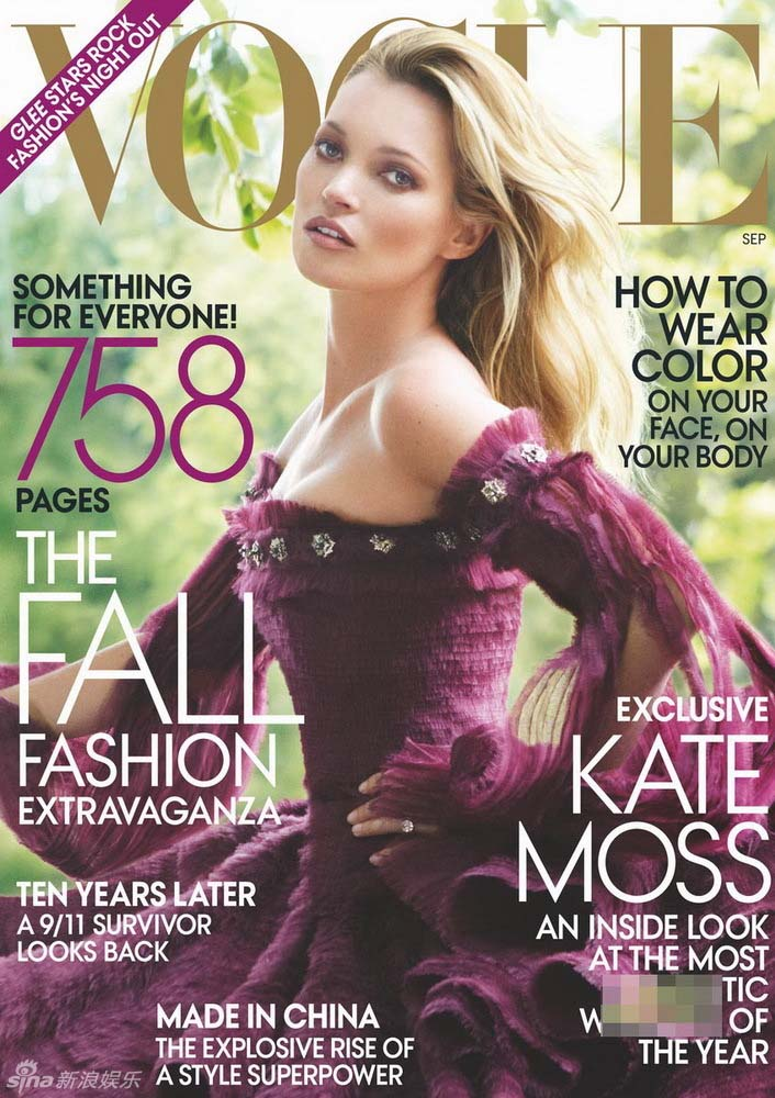 Kate Moss posa para revista Vogue
