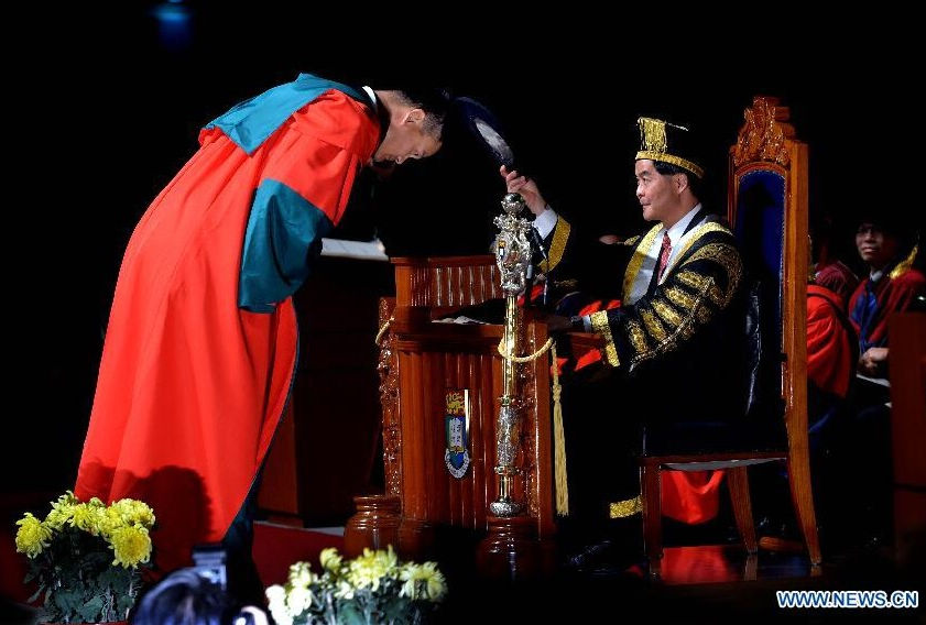 Yao Ming recibe doctorado honoris causa en Hong Kong