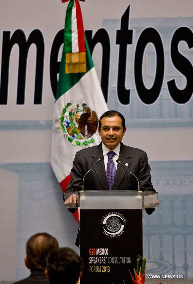 Pide México regulación financiera global en foro parlamentario G20