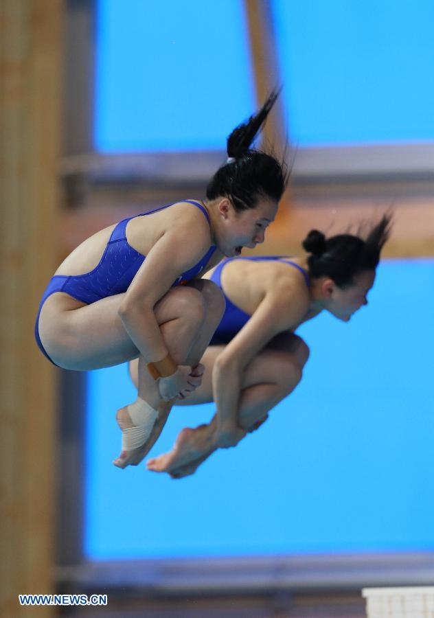 China encabeza tabla de medallas de clavados en Universiada de Kazan