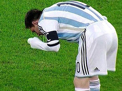 Messi y sus vómitos